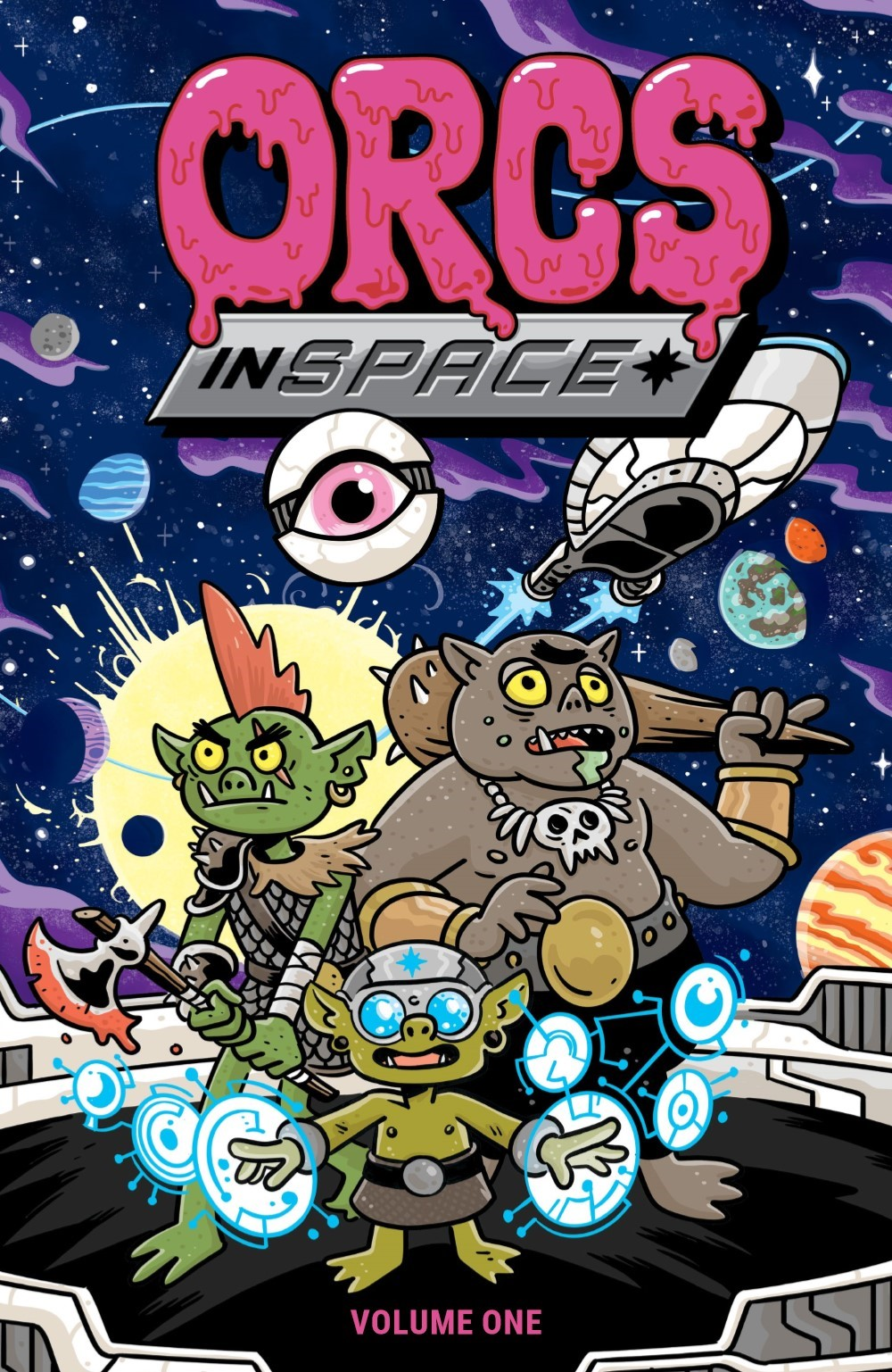 ORCSINSPACE-V1-REFERENCE-001 ComicList Previews: ORCS IN SPACE VOLUME 1 TP
