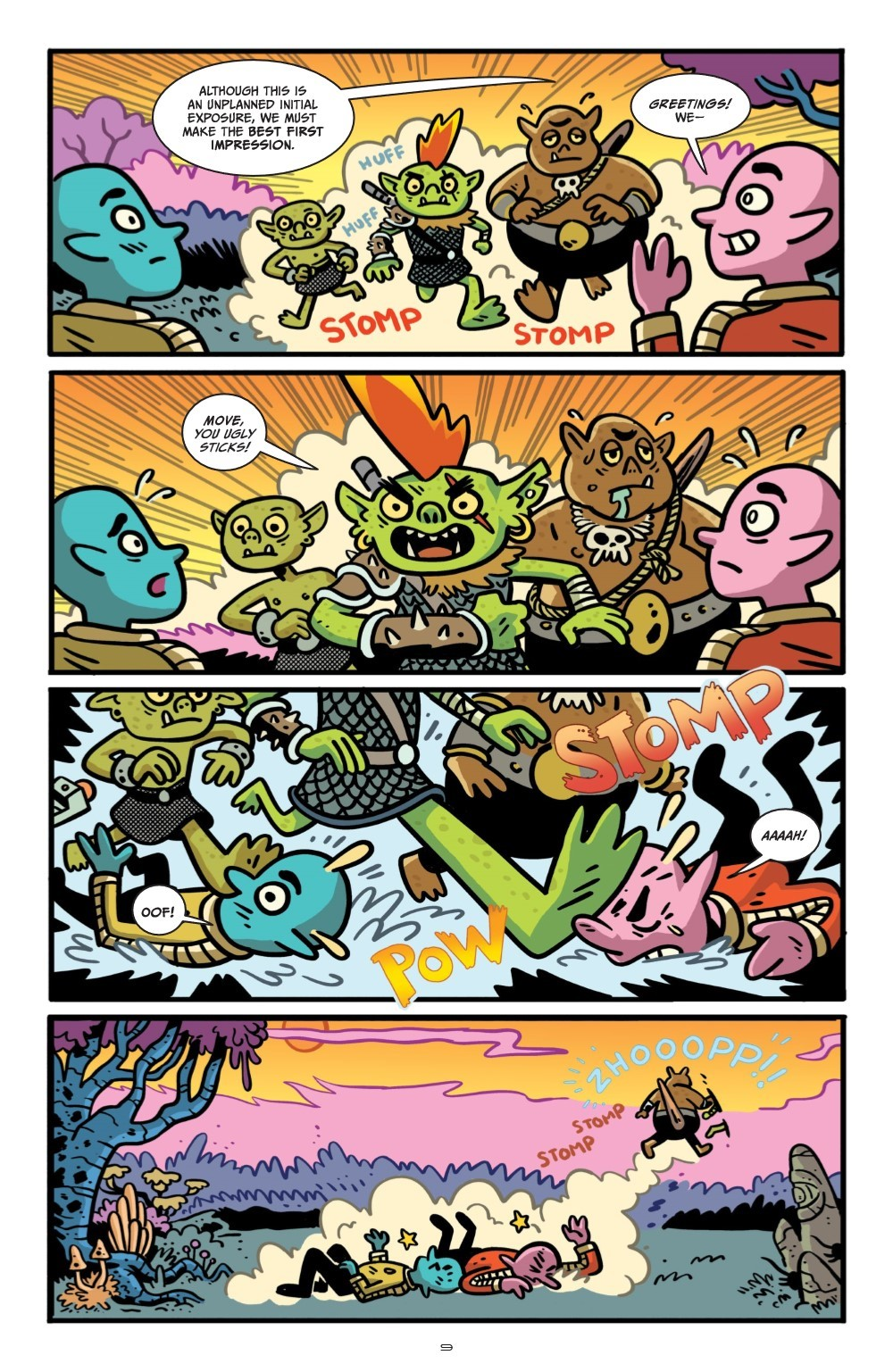 ORCSINSPACE-V1-REFERENCE-010 ComicList Previews: ORCS IN SPACE VOLUME 1 TP