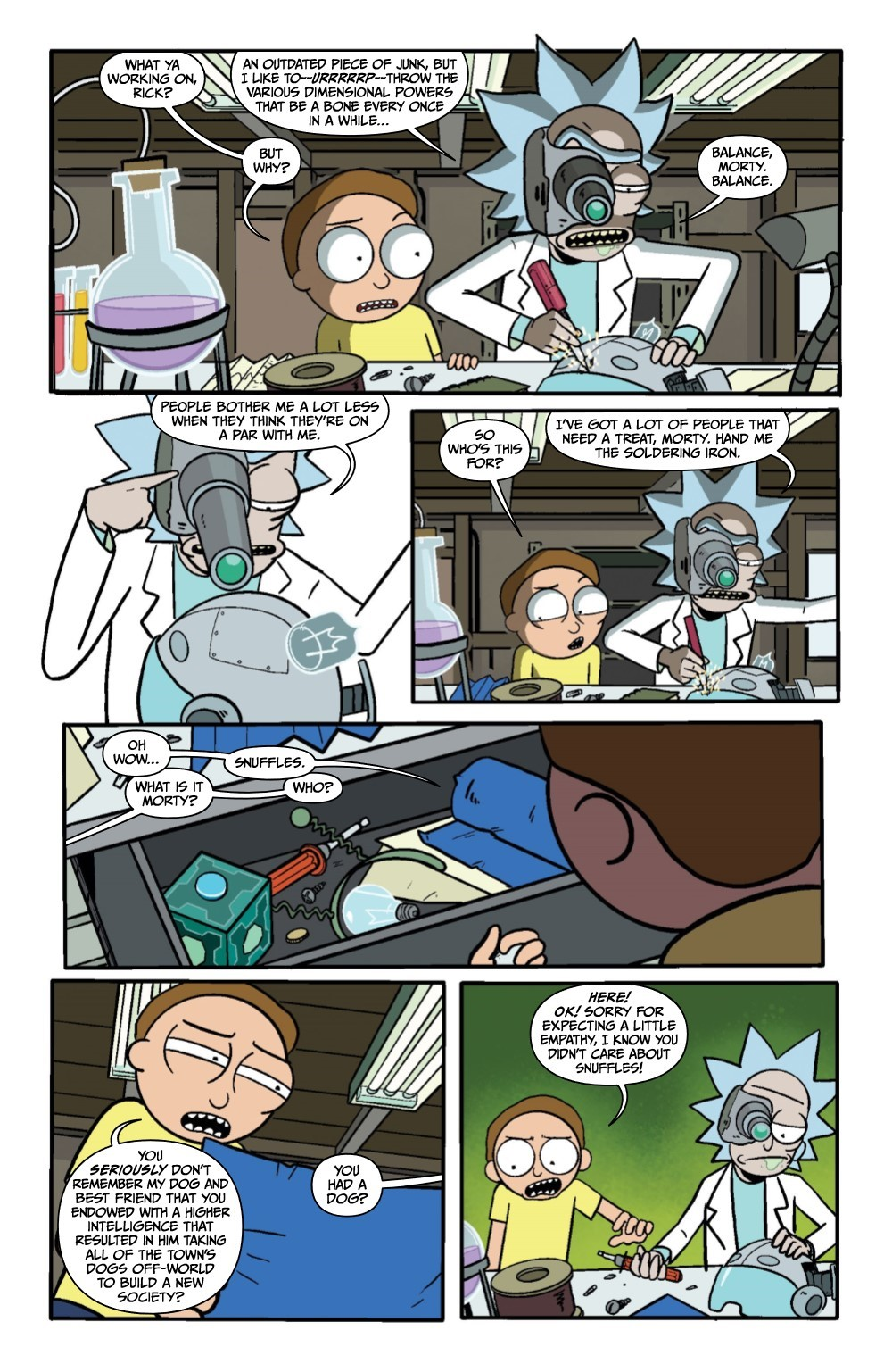 RM-PRES-SNUFFLES-1-REFERENCE-07 ComicList Previews: RICK AND MORTY PRESENTS SNUFFLES GOES TO WAR #1