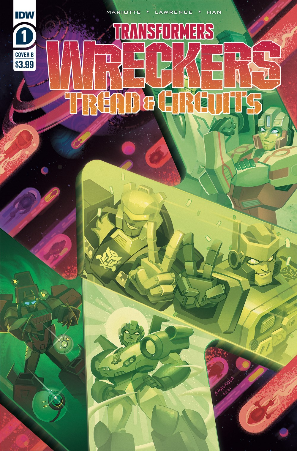 TF-Wreckers-TnC01_cvrB ComicList Previews: TRANSFORMERS WRECKERS TREAD AND CIRCUITS #1 (OF 4)