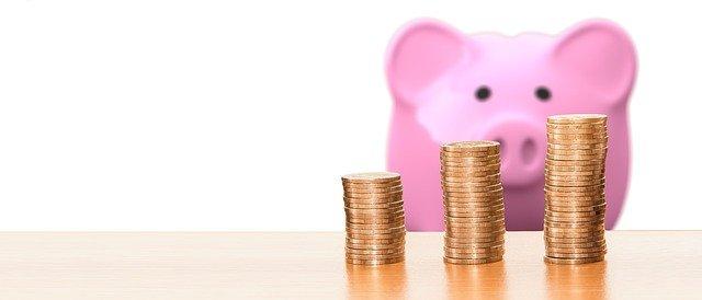 para ahorrar y hacer columnas de monedas