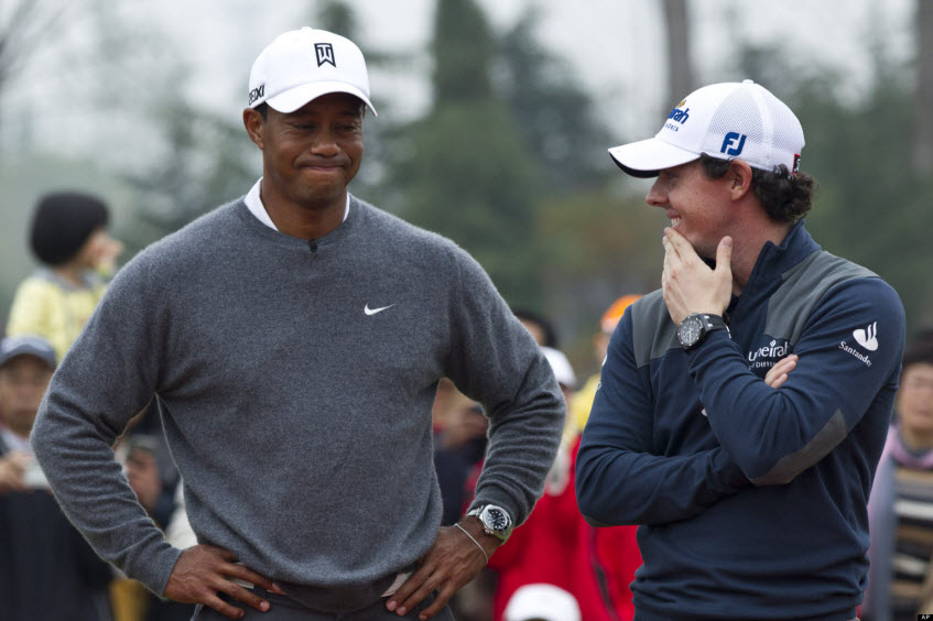 Tiger and Rory, image: huffingtonpost.com
