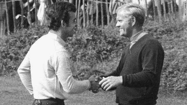 Jack Nicklaus & Tony Jacklin, 1969 Ryder Cup ,image:  edition.cnn.com