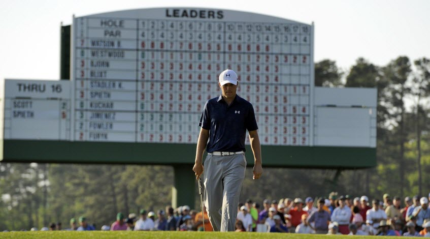 Jordan Spieth at The Masters, image: CBS New York