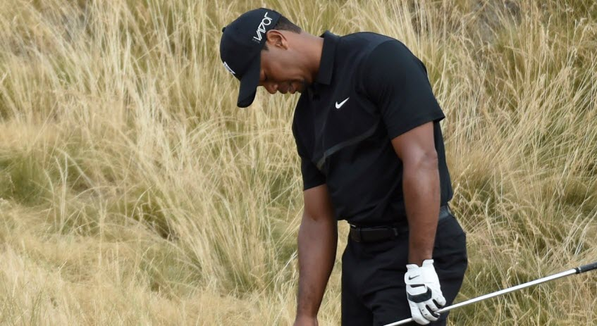 Tiger Woods Struggles at 2015 U.S. Open, image: youtube.com