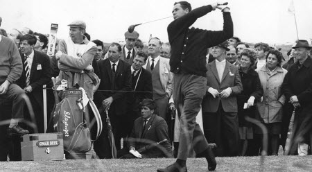 Champagne Tony Lema at the 1964 British Open, image: pgatour.com