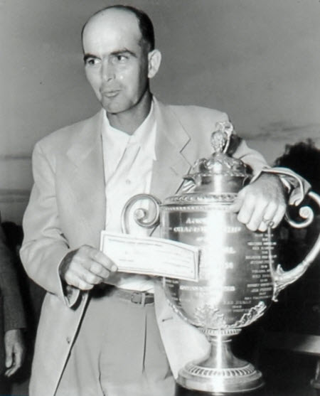 Chandler Harper wins the 1950 PGA Championship, image: pgalinks.com