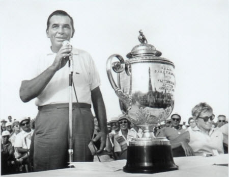 Julius Boros wins the 1968 PGA Championship, image: pgalinks.com