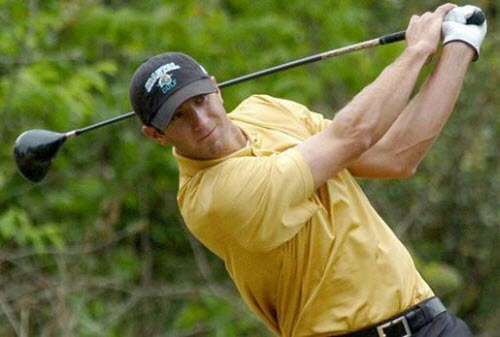 Dustin Johnson while at Coastal Carolina University, image: bigsouthsports.com