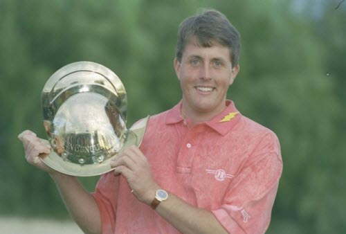 Phil Mickelson wins the 1991 Northern Telecom Open as an Amateur, image: golfchannel.com
