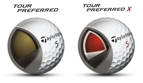 TaylorMade 2016 Tour Preferred & Tour Preferred X Golf Ball Construction