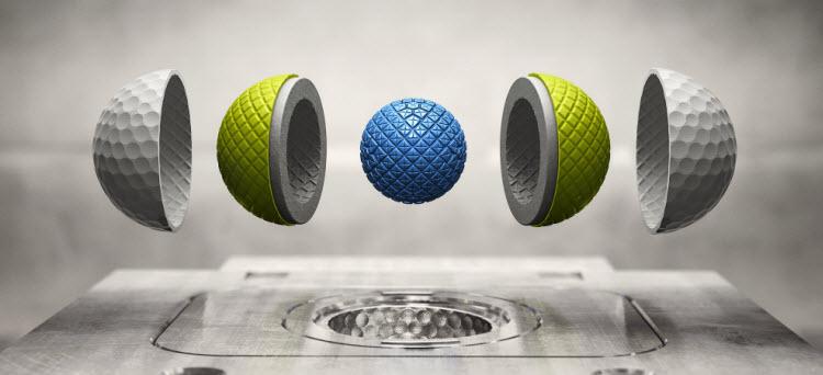 Nike RZN Tour Golf Ball Construction