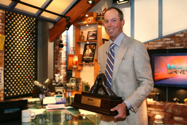 Matt Kuchar with the 2010 Vardon Trophy, image: armchairgolfblog.com
