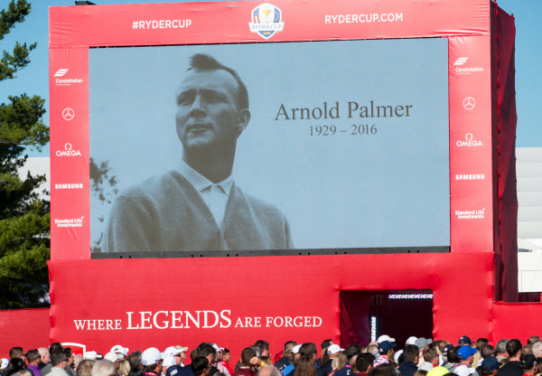 Arnold Palmer being Honored at the 2016 Ryder Cup, image: Star Tribune