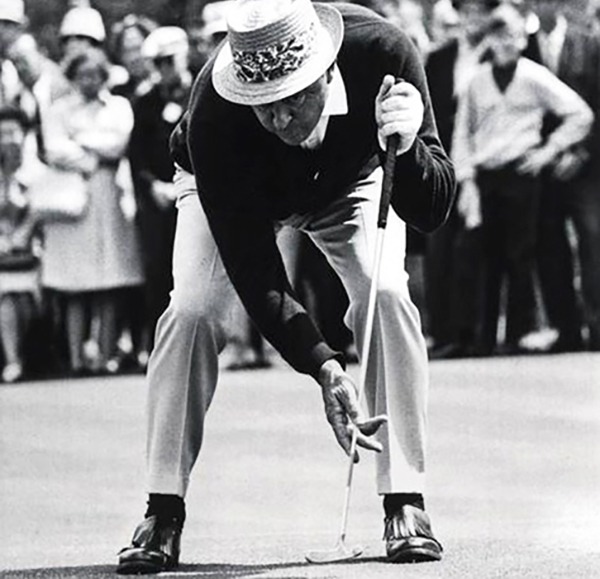 Sam Snead Using Croquet Style Putting, image: theaposition.com