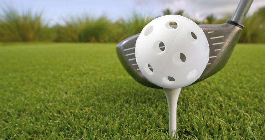 Plastic Wiffle Practice Golf Ball, image: cabinlivingmag.com