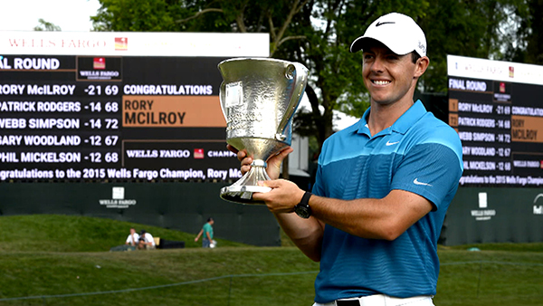 Rory McIlory at the 2015 Wells Fargo Championship, image: golfchannel.com