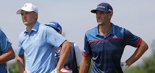 Jordan Spieth and Dustin Johnson at the 2017 U.S. Open, image: sportingnews.com