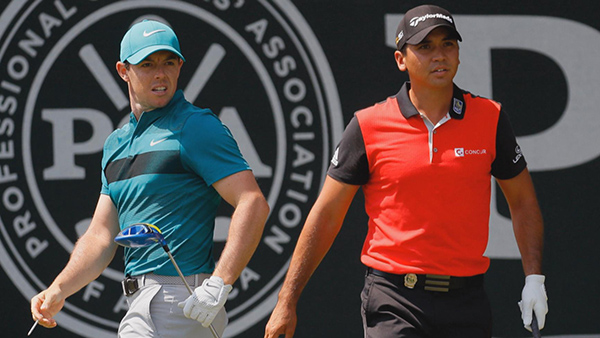 Rory McIlroy and Jason Day at the 2016 PGA Championship, image: golfchannel.com