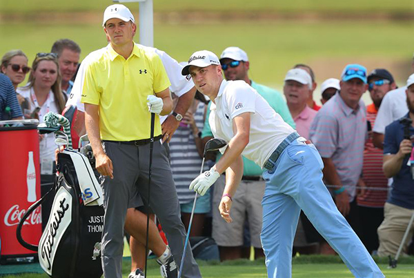 Spieth and Thomas in the Opening Round of the 2017 Tour Championship, image: ajc.com
