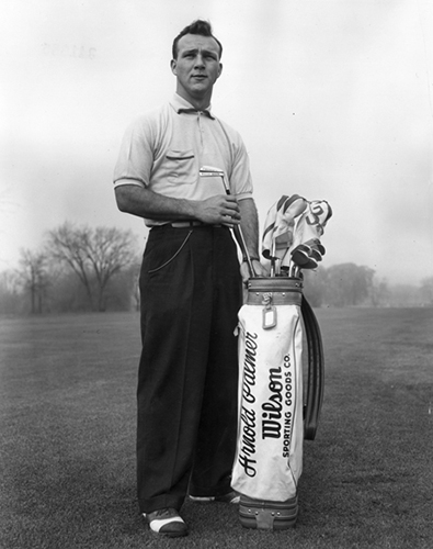Arnold Palmer With His Wilson Golf Clubs in 1953, image: sportsbusinessdaily.com
