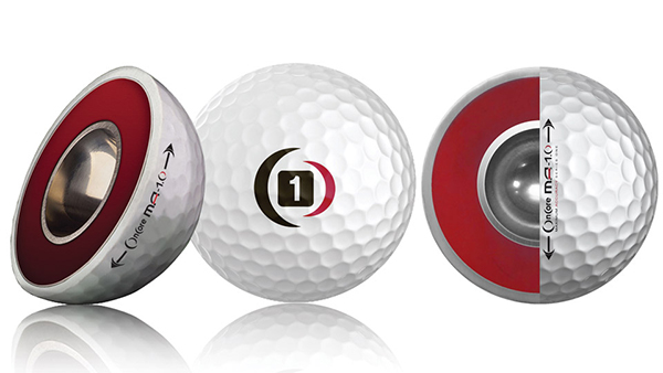 OnCore Golf Ball with Hollow Metal Core, image: golf.com