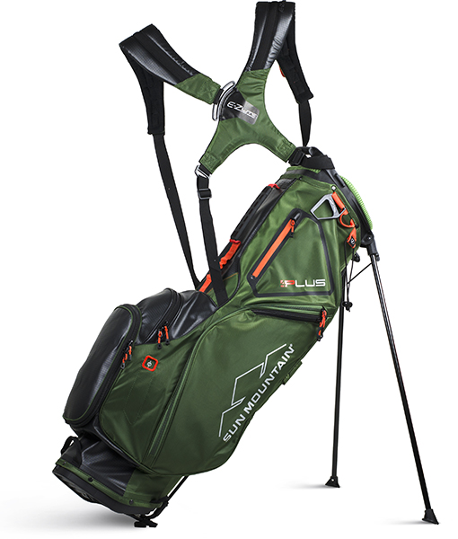 Sun Mountain 4Plus Stand Bag Featuring the Upgraded E-Z Lite Dual Strap System