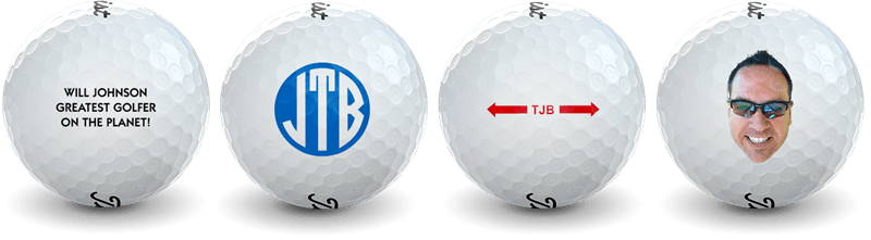 Examples of Customized Golf Balls from Golfballs.com