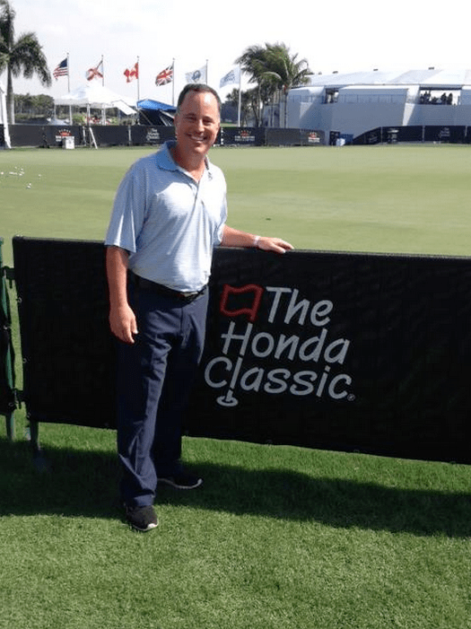Our grand prize winner Richard Joblove at The Honda Classic.