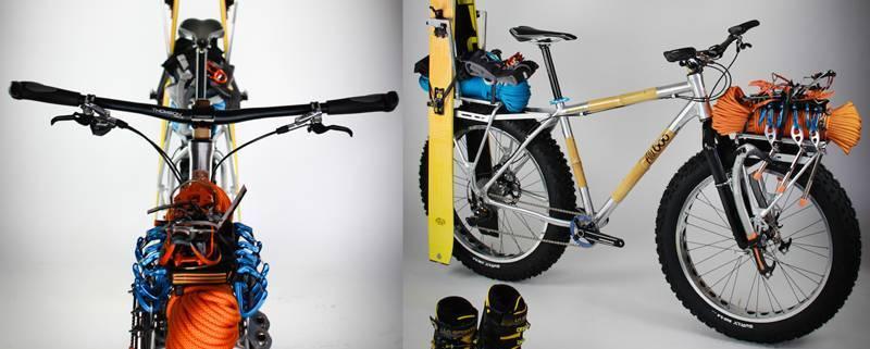 Ski mountaineering fatbike