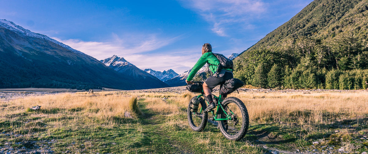 Fatbiking in the Hopkins Valley, New Zealand