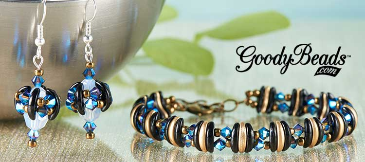 Czech Crescent Bracelet And Earrings With FREE Illustrated
