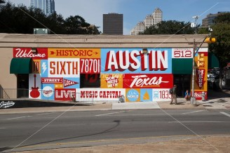 Welcome to Historic Sixth Street is a famous mural located at 6t