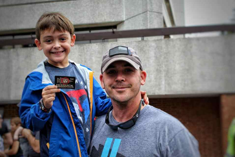 Ruck Kids Blog - Leo with dad and patch