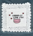 Subversive Cross Stitch - I Bear-Ly Love You