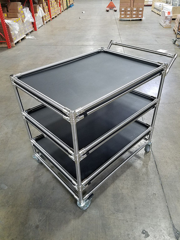 Solid Shelf 3-Tier Cart