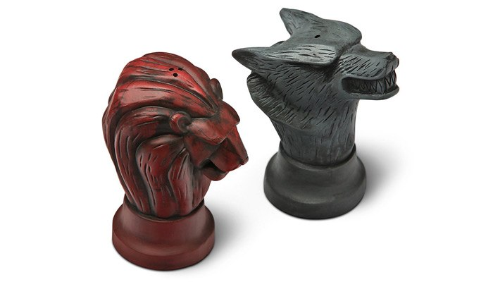 game of thrones gifts for him salt and pepper shakers