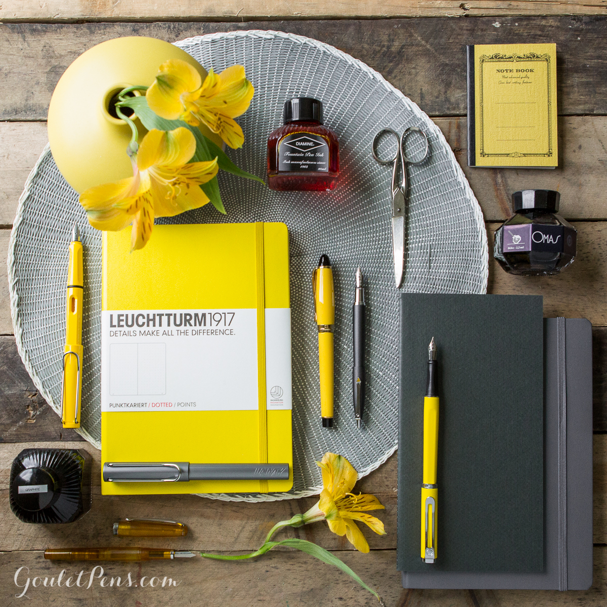 Thursday Things Yellow And Grey Goulet Pens Blog