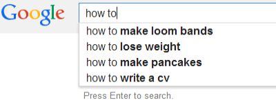 Search for How to on Google UK