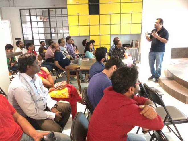Kathir explaining EDA at Upgrad