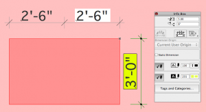 ArchiCAD Dimension Text with Background Fill