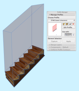 in 3D and section
