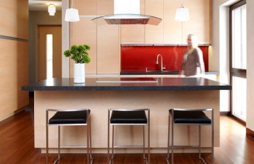 Passive House in the Woods: Kitchen Island
