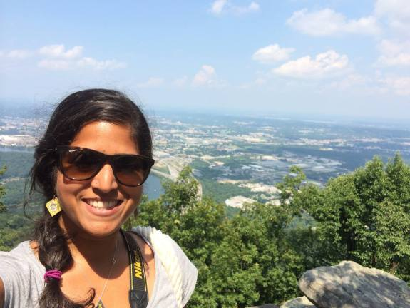 Veena on her travels