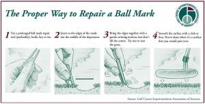 Proper Way to Repair a Ball Mark_GCSAA