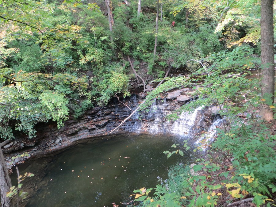 The waterfall on the Gorge Trail at Sharon Woods.