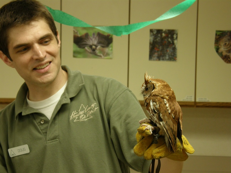 Doug in his Naturalist days at Sharon Woods