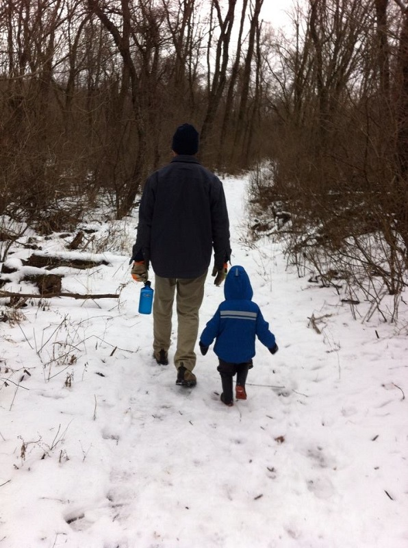 My son, Aiden, and I at Shawnee Lookout