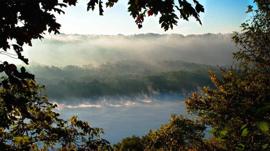 View of the Ohio River on the Little Turtle Trail at Shawnee Lookout.