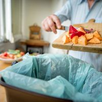 How does Wokingham food waste affect climate change?